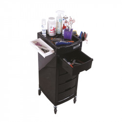 RECORD GROOMING SALON TROLLEY DELUXE BLACK 30X40X83