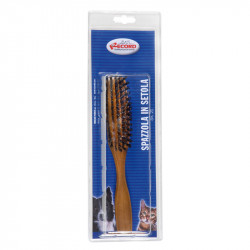 PURE BRISTLE BRUSH WITH HANDLE