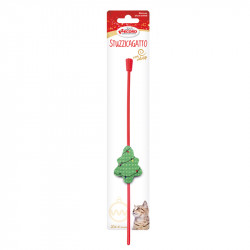 christmas-cat toy tree cat teaser