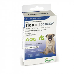 FLEANIL COMBO DOGS ABOVE 40 KG, 3 PIPETTES 4,02 ML