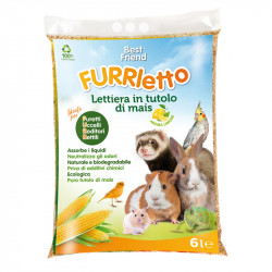 FURRLETTO LITTER, CORNCOB LEMON SCENTED