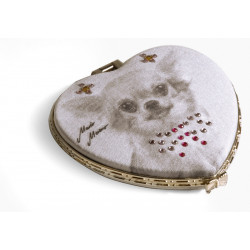 CHIHUAHUA POKET MIRROR WITH RHINESTONES