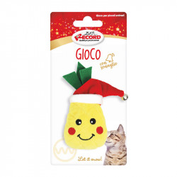 christmas-cat toy pineapple with hat