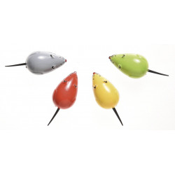 PLASTIC WIND UP MOUSE IN DISPLAY