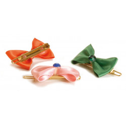 BIG SATIN BOWS, WITH CLIP