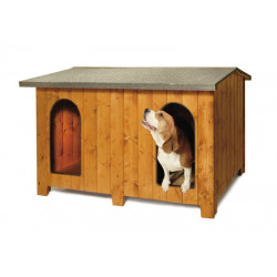 "DOUBLE WOODEN KENNEL ""CHALET"" LUXURY"
