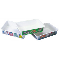 DECORATED MELAMINE CAT LITTER