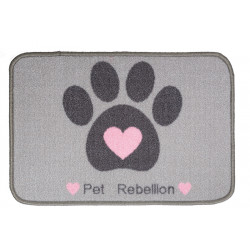 RECORD FOOD MAT BOWLS PAW AND HEART 40X60