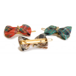 BIG TARTAN BOWS, WITH CLIP