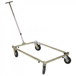 CAGE TROLLEY - 2 FIXED + 2 ROATING WHEEL